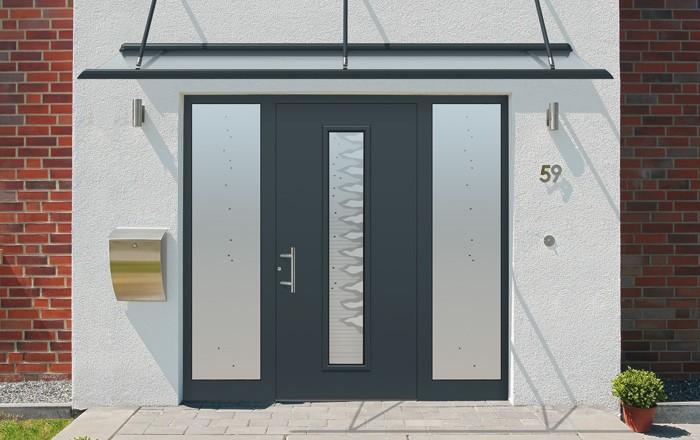 Porte d entree aluminium castorama maison design for Rideau porte d entree castorama