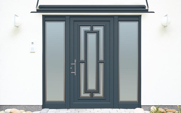 Porte d 39 entree aluminium chagall for Porte d entree aluminium castorama