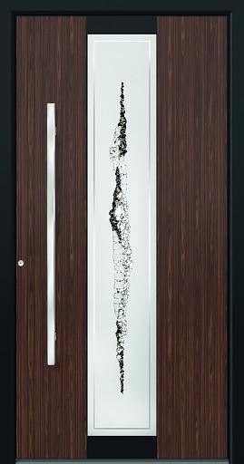 porte d 39 entree aluminium decor bois. Black Bedroom Furniture Sets. Home Design Ideas
